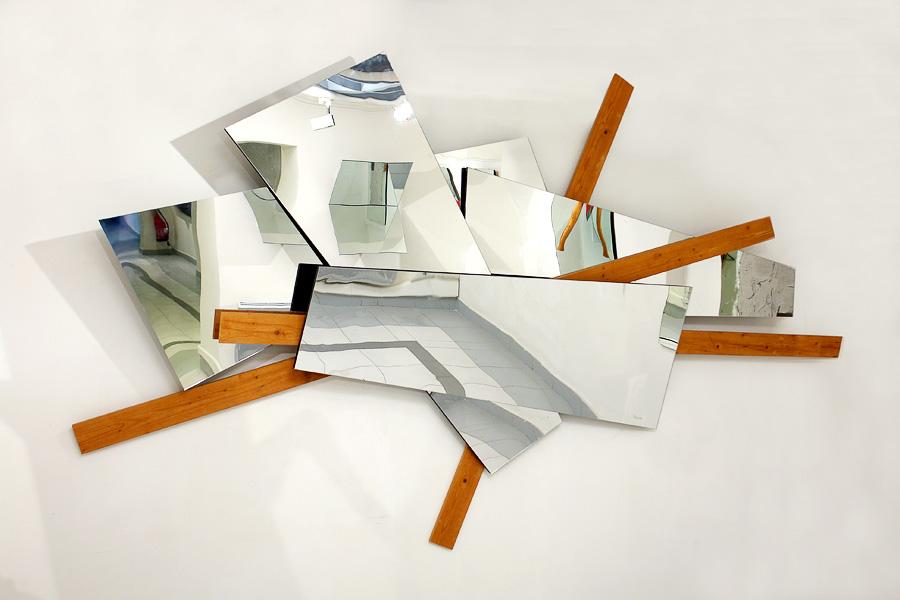 Miroir, mirror, la porte, le passage, sculpture, constructivisme