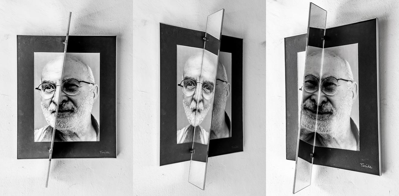 Portraits crashés, mirroir, tableau, Taride